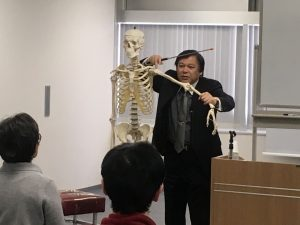 KCSグループ桑岡俊文会長による姿勢調整の技術講義